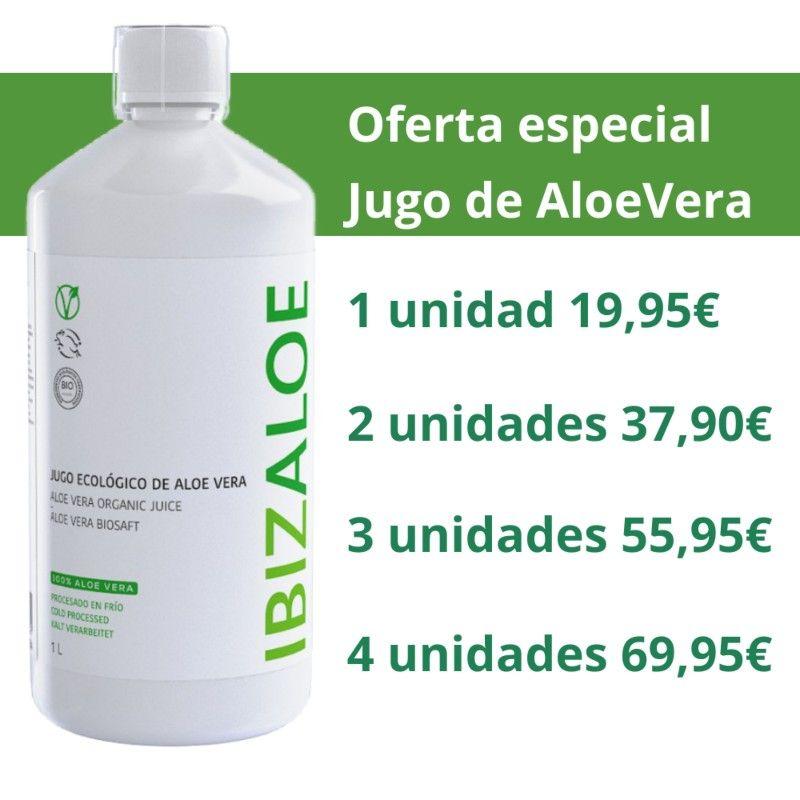 JUGO ECOLÓGICO DE ALOE VERA 99,98% 1 Litro
