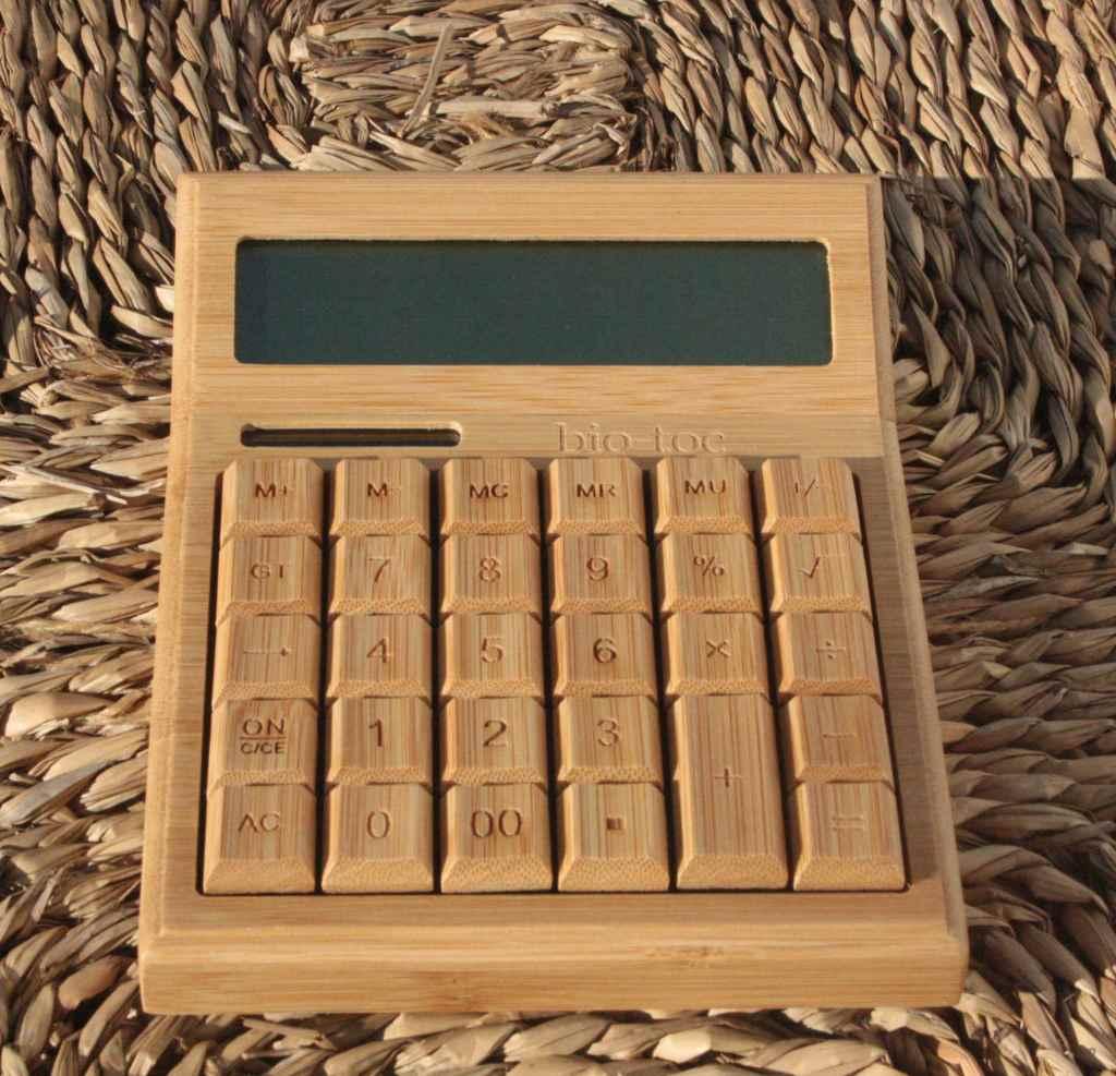 Calculadora Bambú Grande