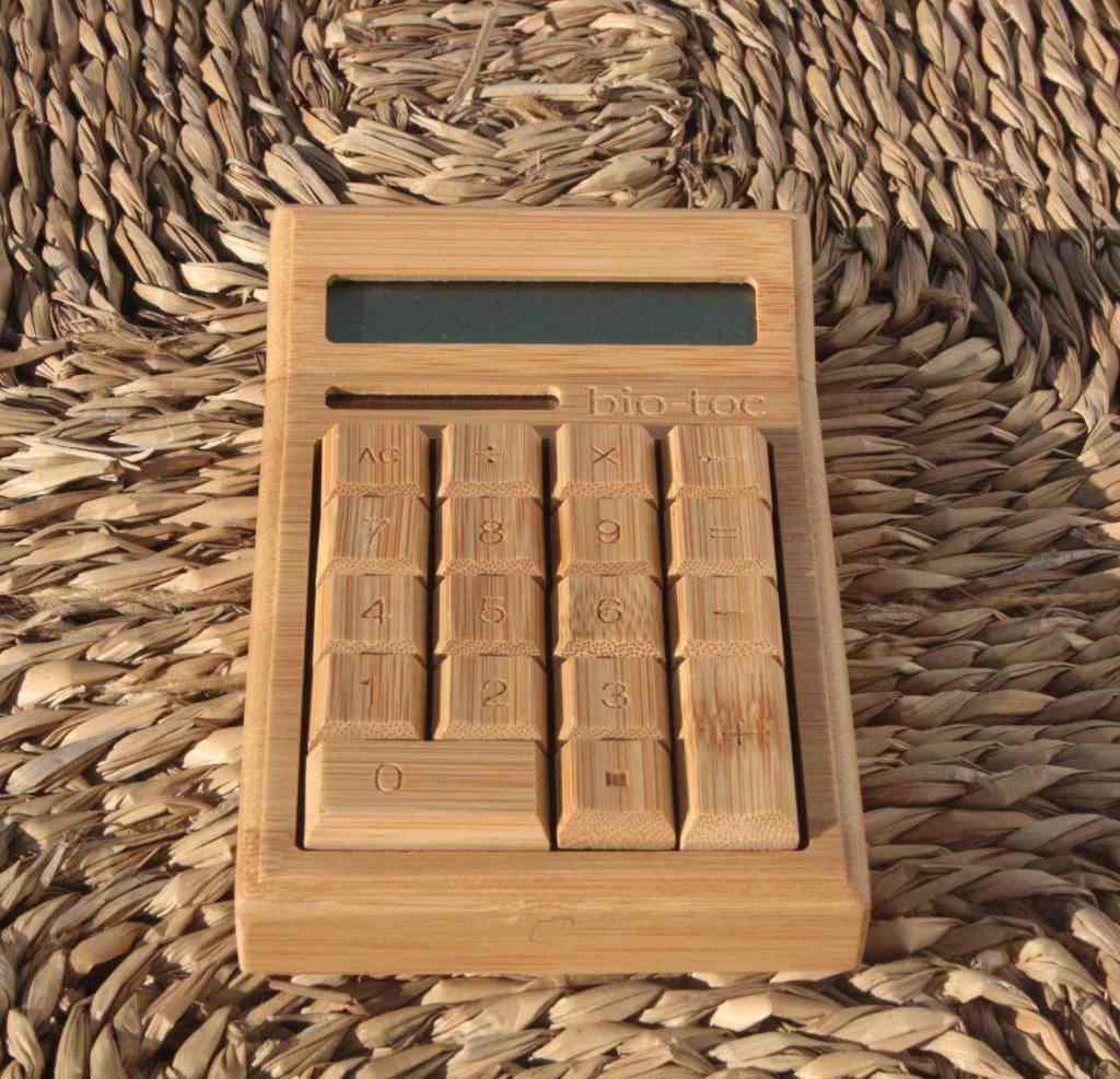 Calculadora Bambú Pequeña