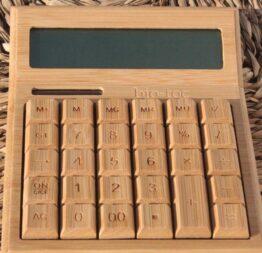 calculadora bambú grande 2