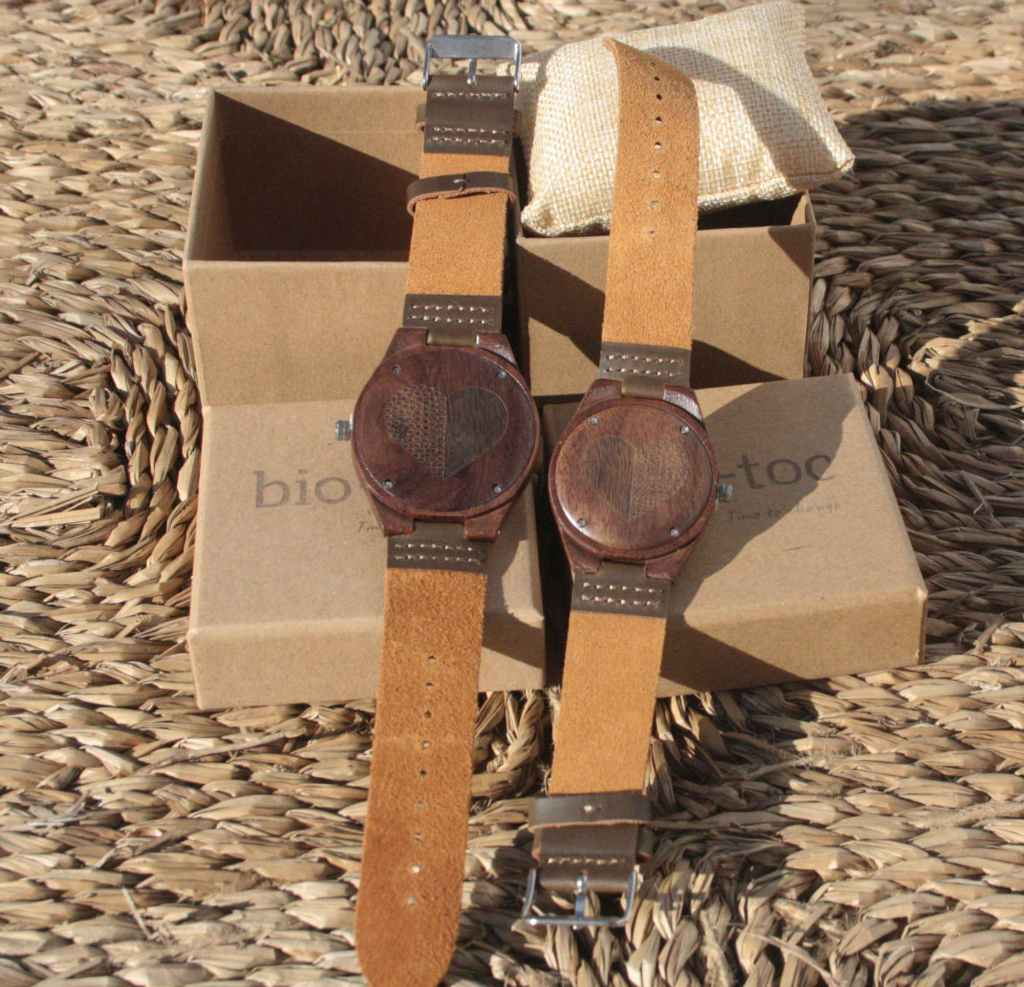 pack reloj de madera indiana mujer - hombre 2