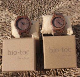 pack reloj de madera indiana mujer - hombre 3