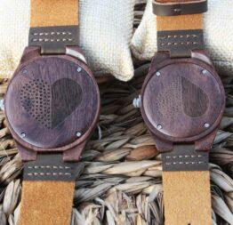 pack reloj de madera indiana mujer - hombre 5
